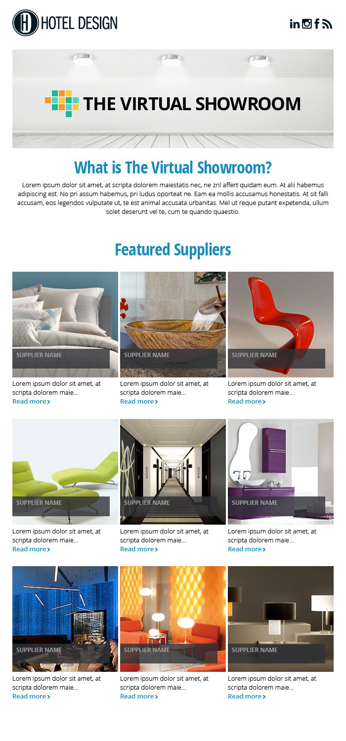 The Virtual Showroom Email Template