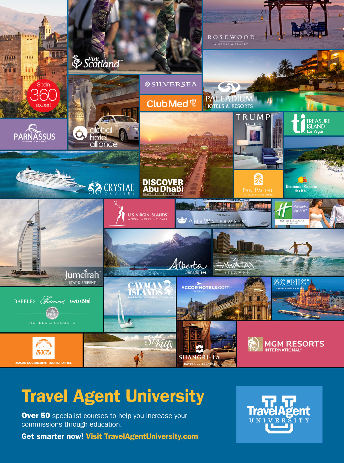 Travel Agent University All Courses Ad