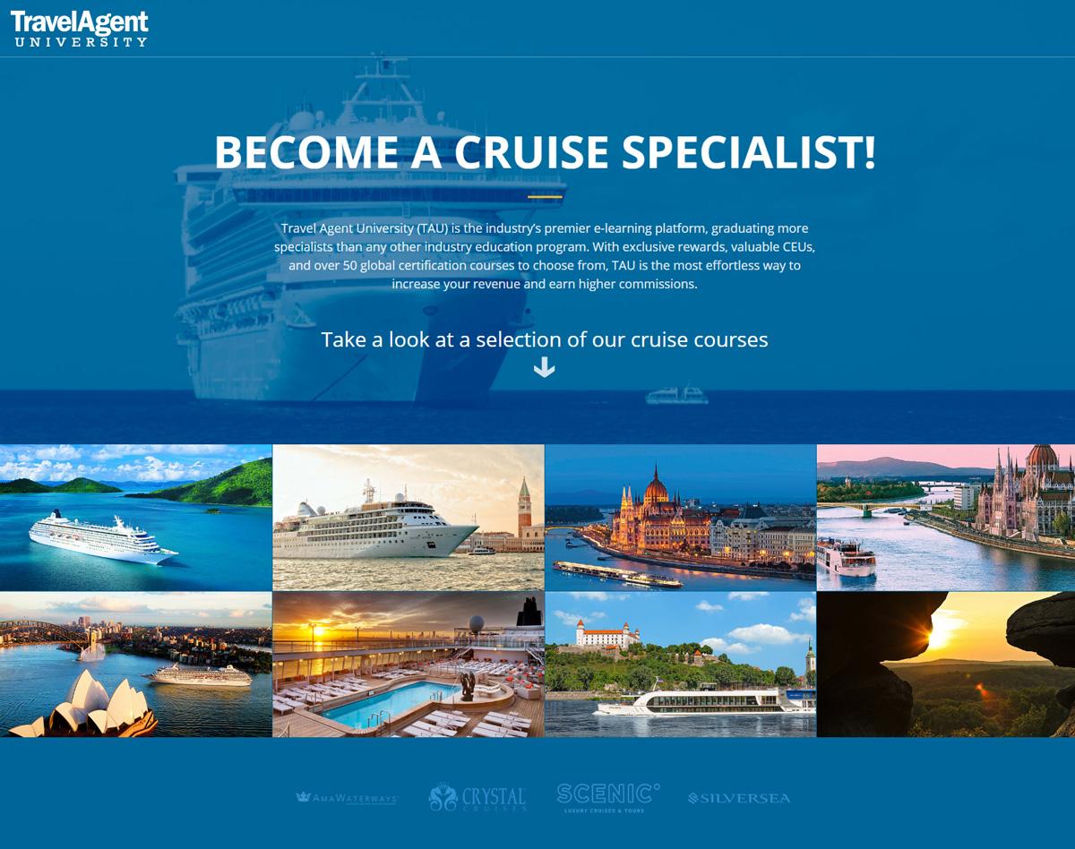Travel Agent University Cruise Landing Page